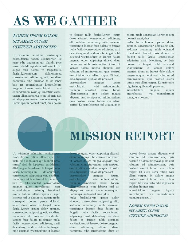 Missionary Newsletter Templates Mission Update Newsletter Template Template Newsletter