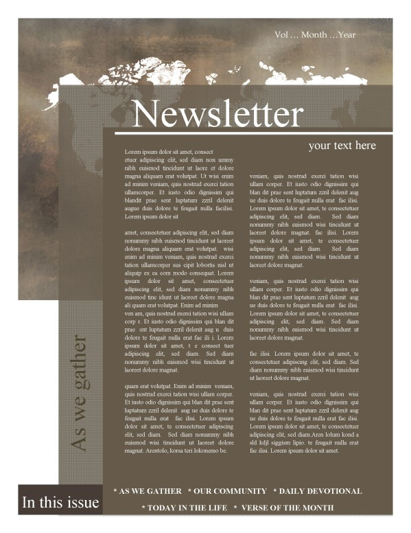 mission update newsletter template