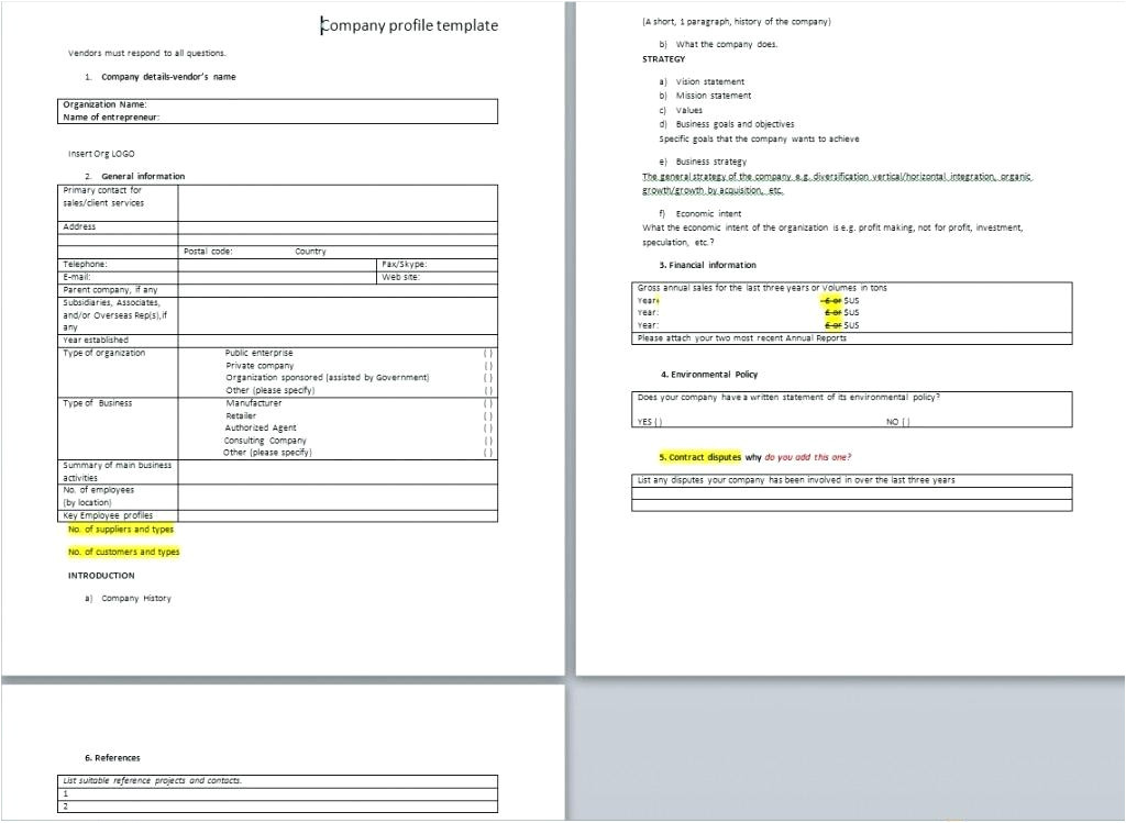 Model Company Profile Template Excel Model and Talent Health24 Club