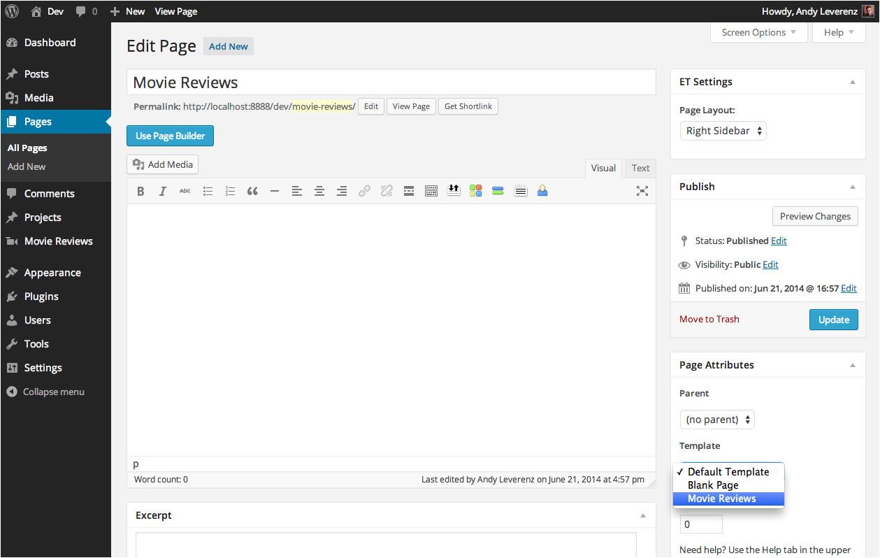 Modify WordPress Template Creating Custom Post Types In WordPress Elegant themes Blog
