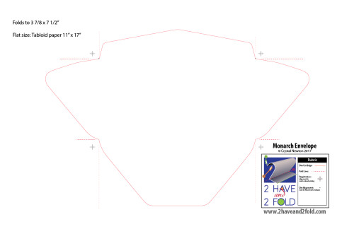 Monarch Envelope Template Envelopes 2 Have and 2 Fold