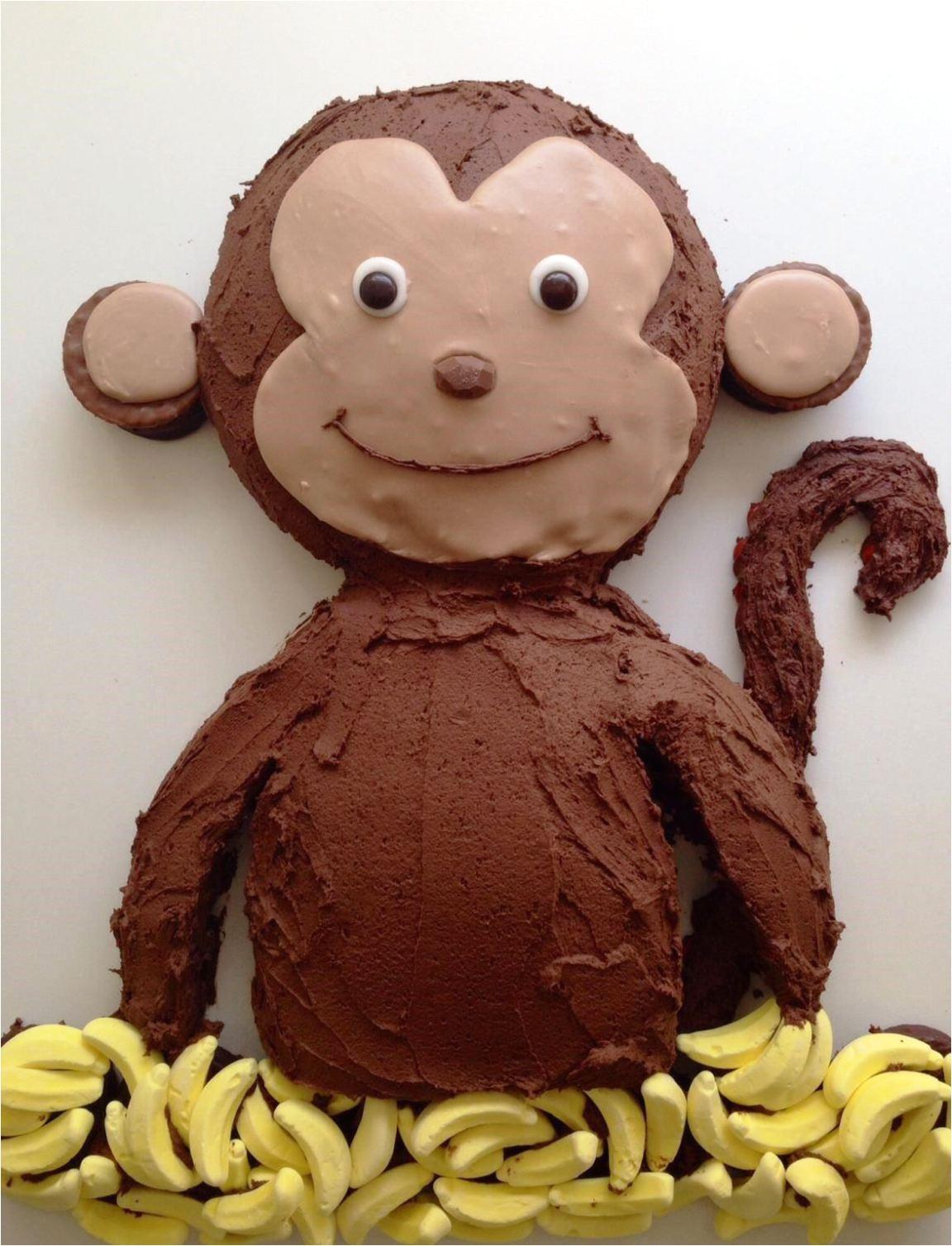 monkey birthday cake template