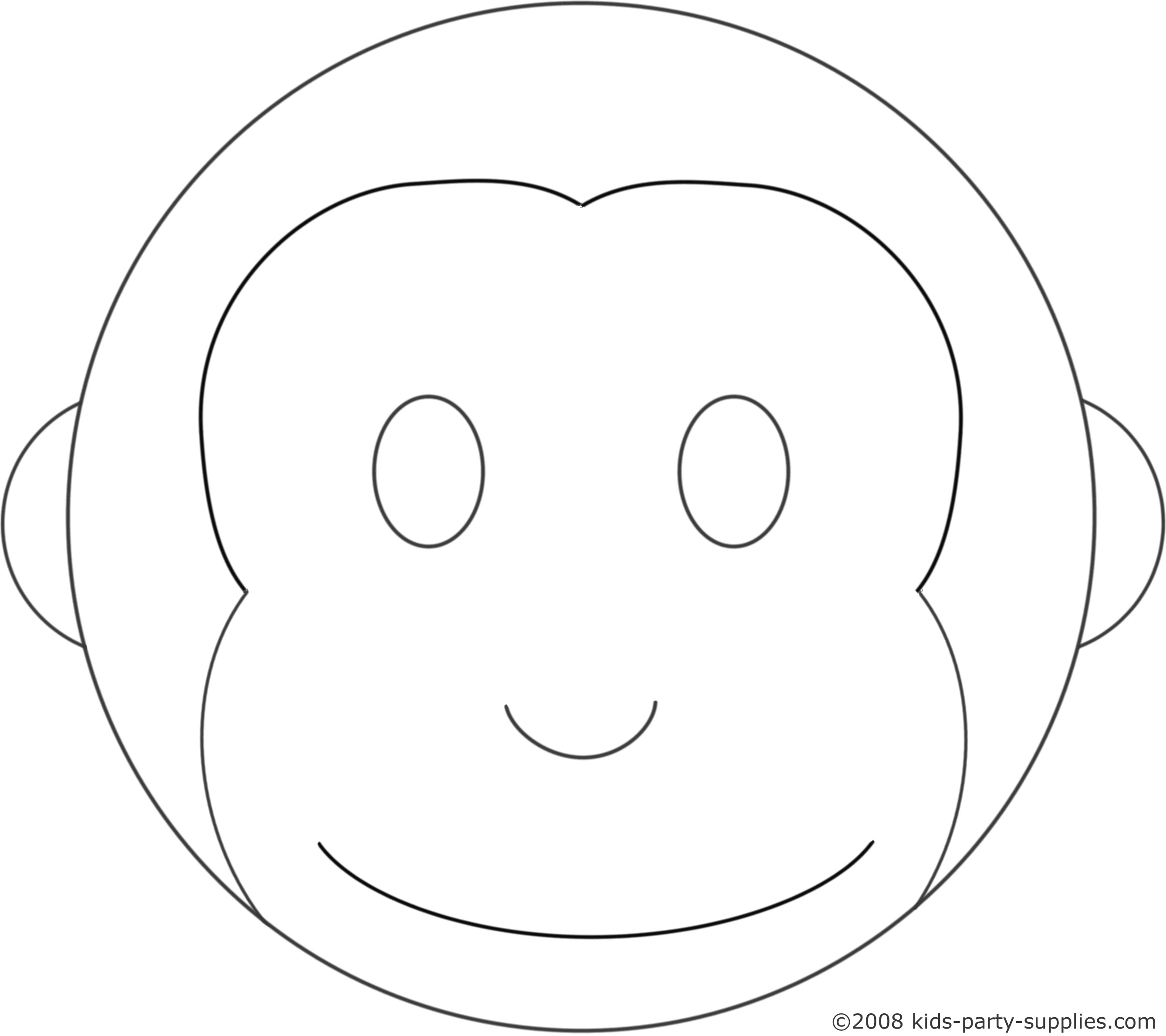 Monkey Birthday Cake Template Monkey Cake Template Birthday Ideas Pinterest