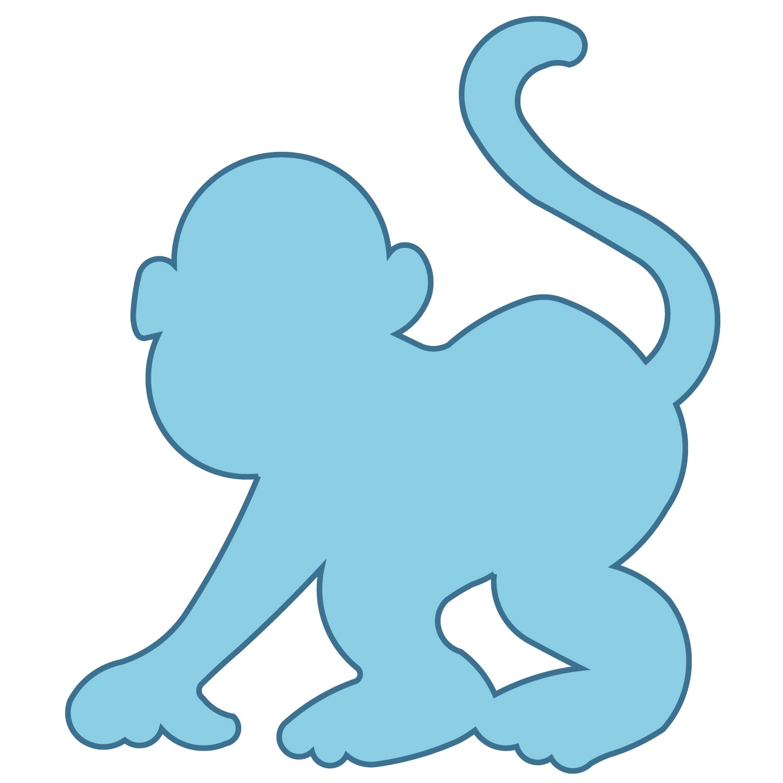 post monkey cut out patterns 489244