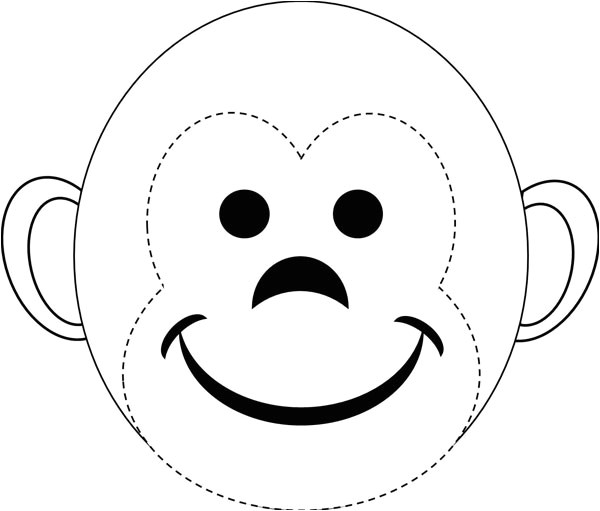 Monkey Face Template for Cake Banana Monkey Cake Recipe Land O Lakes