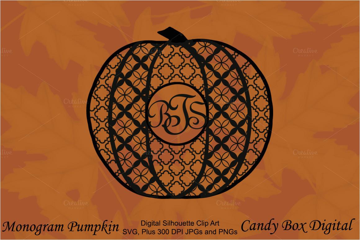 359427 monogram pumpkin silhouette