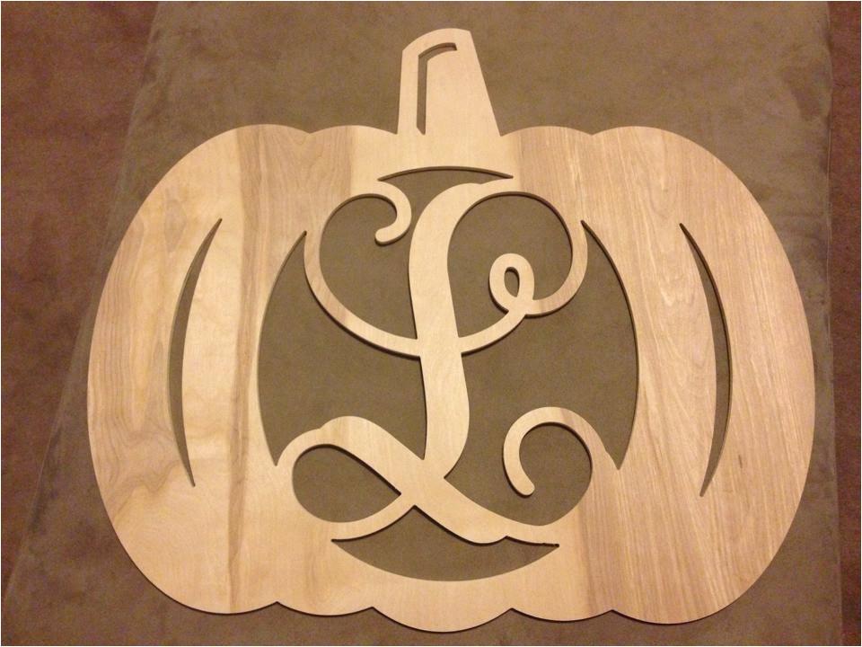 pumpkin single initial monogram door