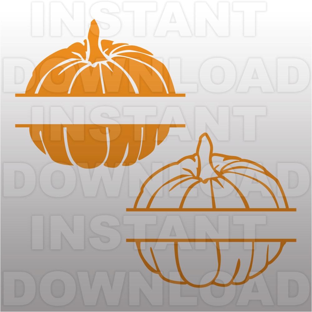 pumpkins halloween monogram split svg