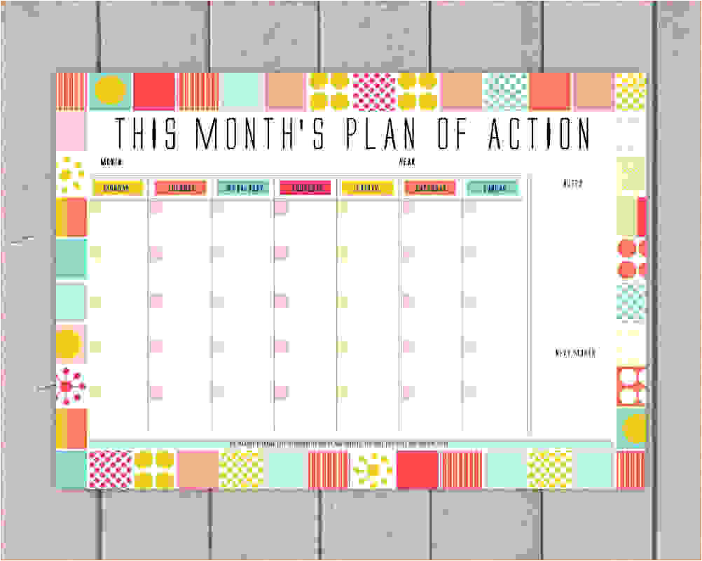 10 monthly planner template