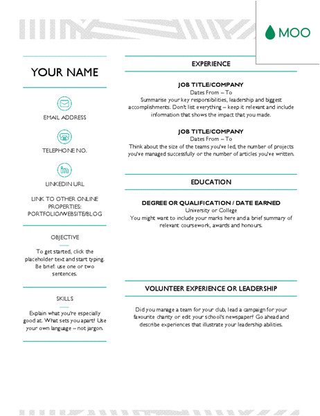 Moo.com Templates Creative Cv Designed by Moo Office Templates