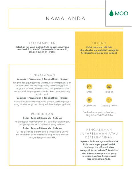 resume yang singkat dan jelas didesain oleh moo tm16392749