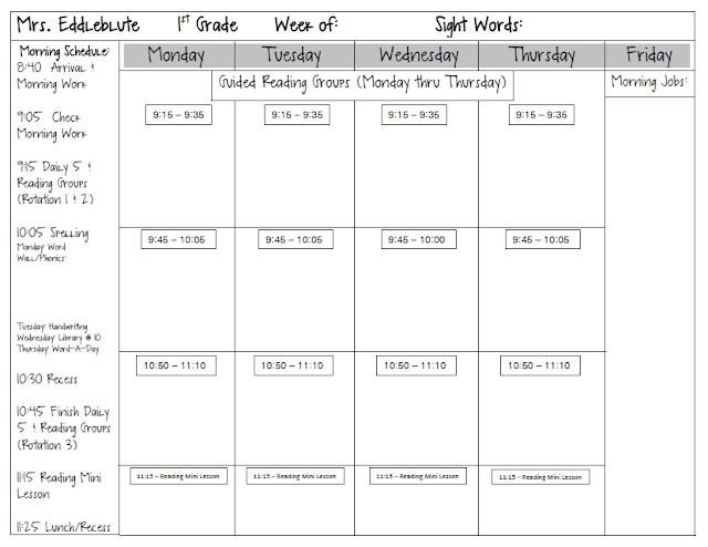 first grade math meeting board templates