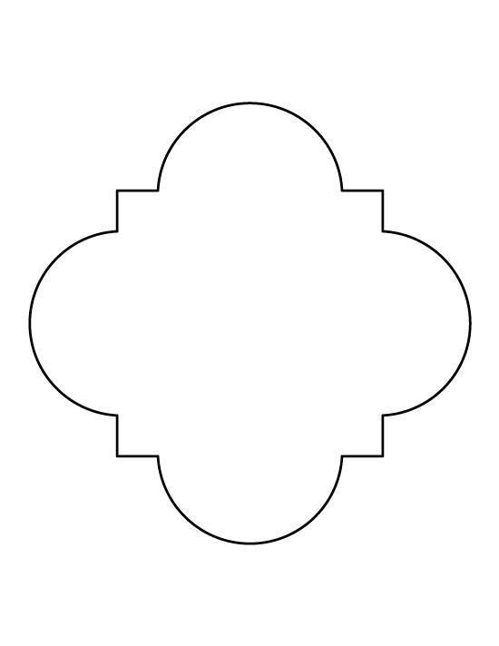 Moroccan Shapes Templates Quatrefoil Pattern Use the Printable Outline for Crafts