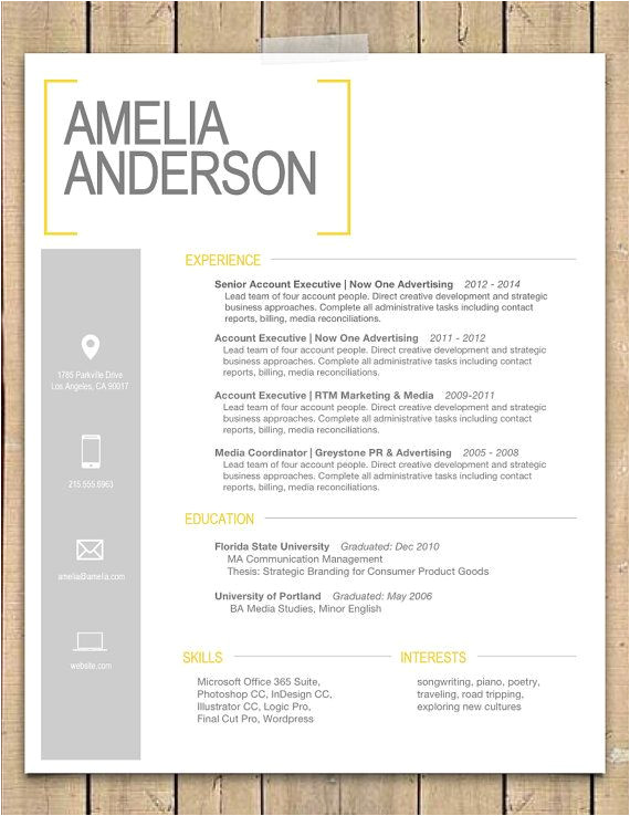Most Creative Cover Letters Resume Template the Quot Sara Quot Modern Resume Template