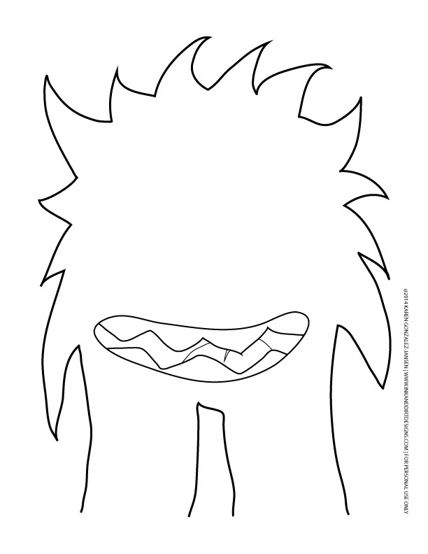 post monster printable templates 176790