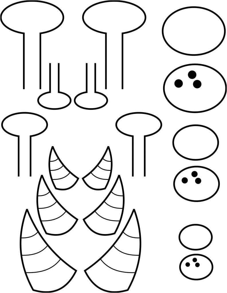 paper plate monster
