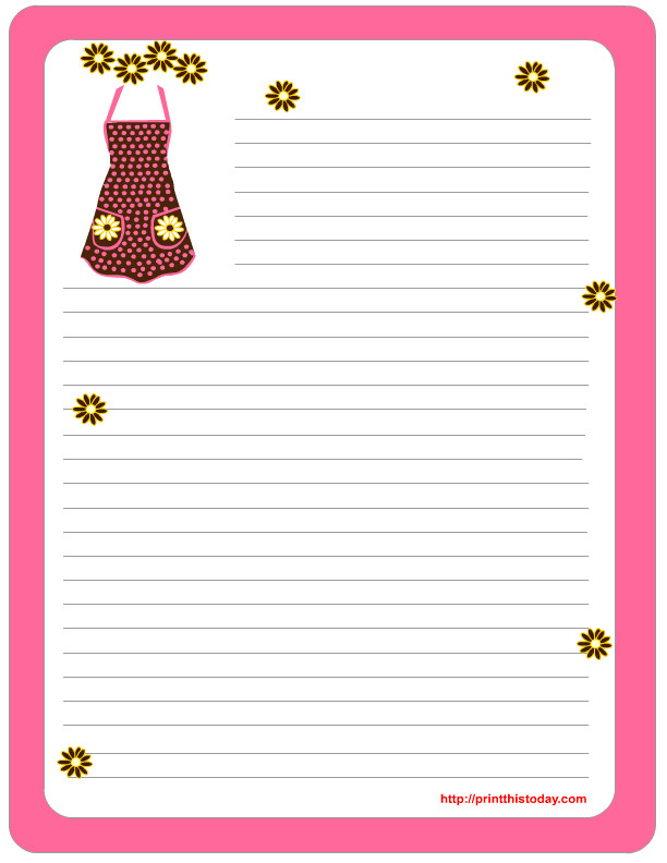 free mothers day stationery printables