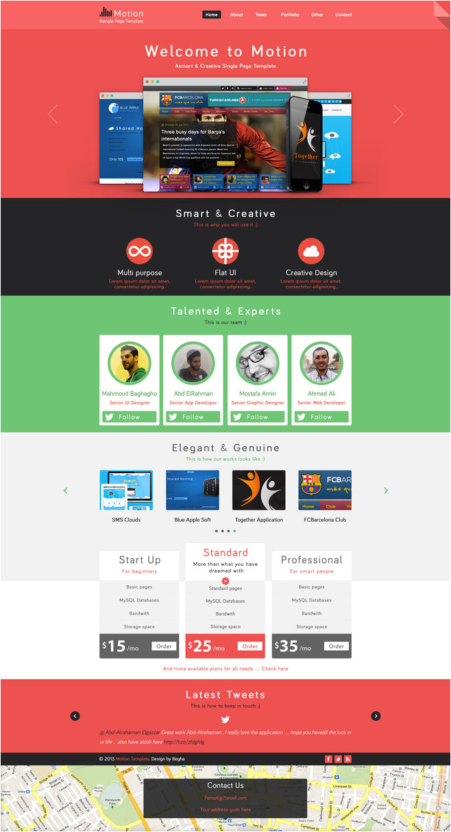 motion single page psd web template for free 380143270