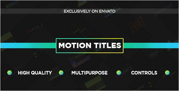 20 unique motion titles titles after effects templates