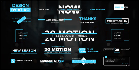 motion titles lower thirds 1 corporate after effects templates