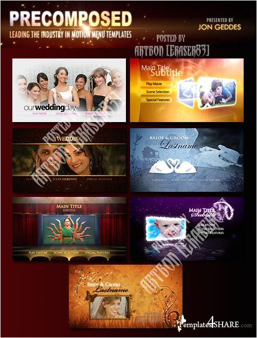 precomposed pro motion menu kits full