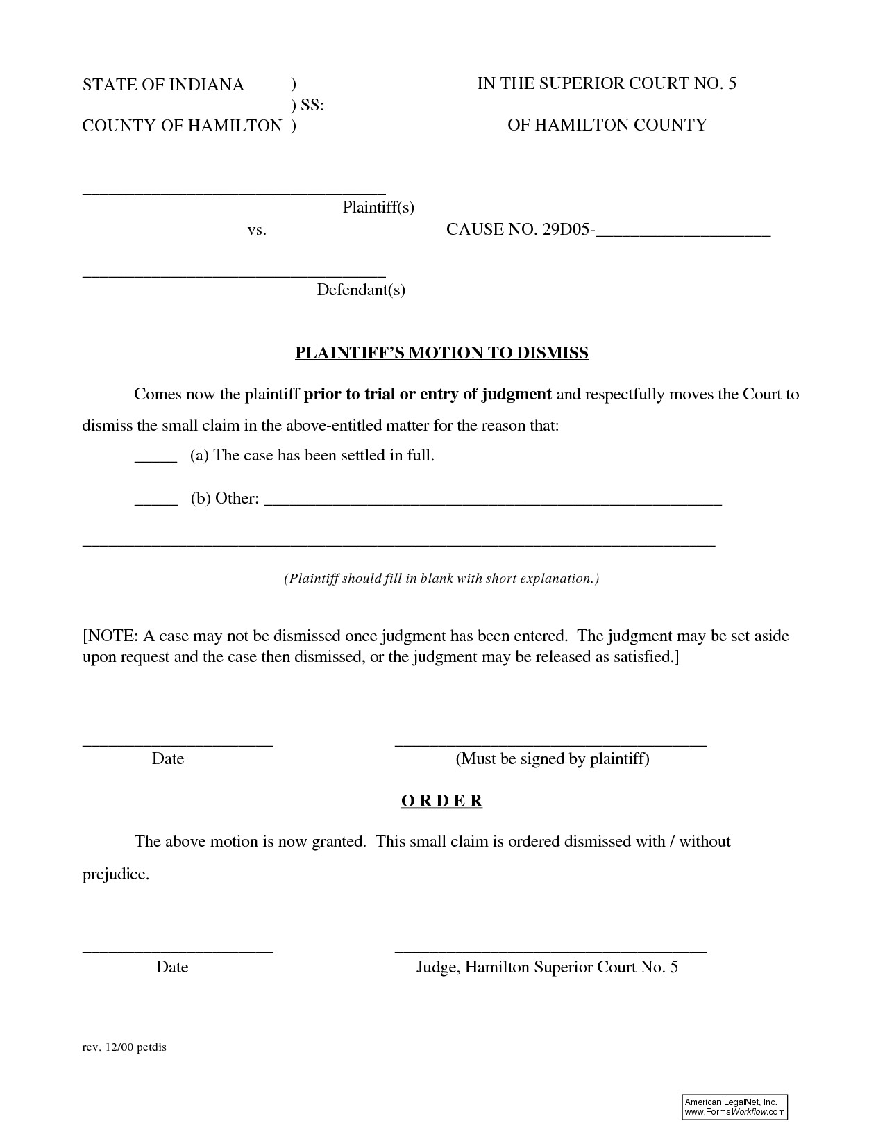 post motion to dismiss form 404071