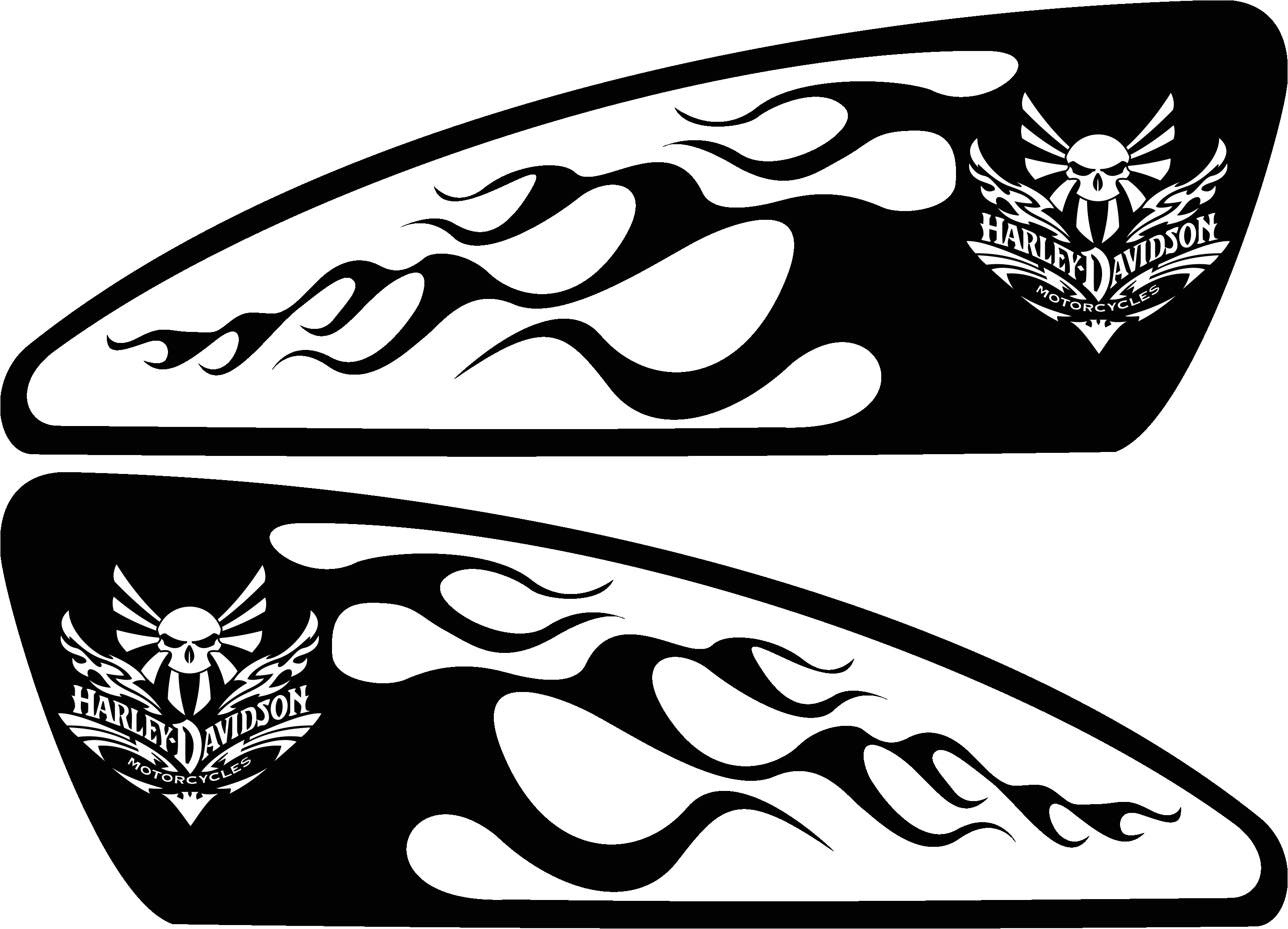 motorcycle airbrush stencils