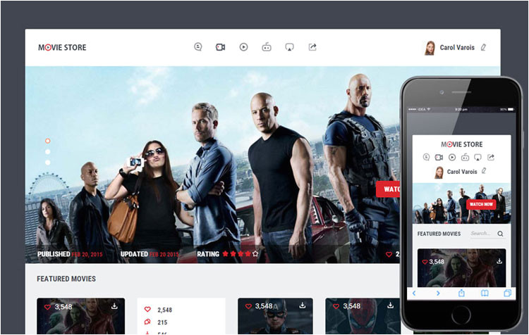 Movies HTML Template 6 Bootstrap Movie Cinema Templates Designerslib Com