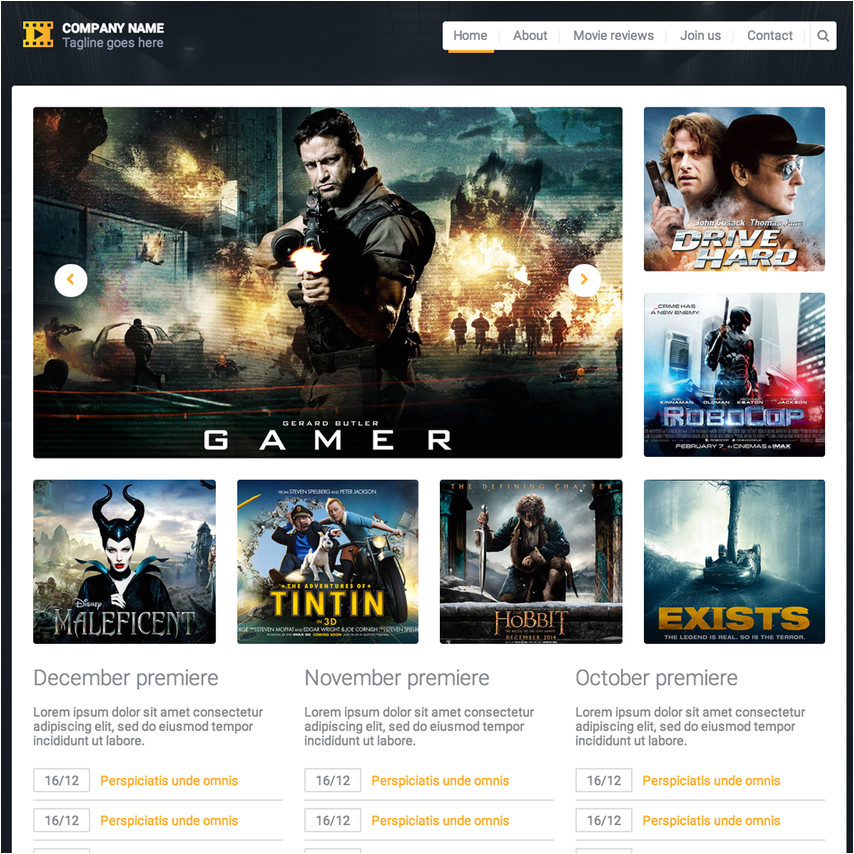 10 movie reviews responsive template