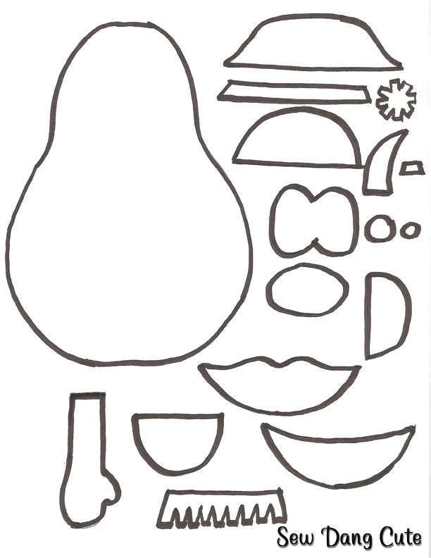 Mr Potato Head Felt Template Potato Head Body Parts Coloring Pages Coloring Pages