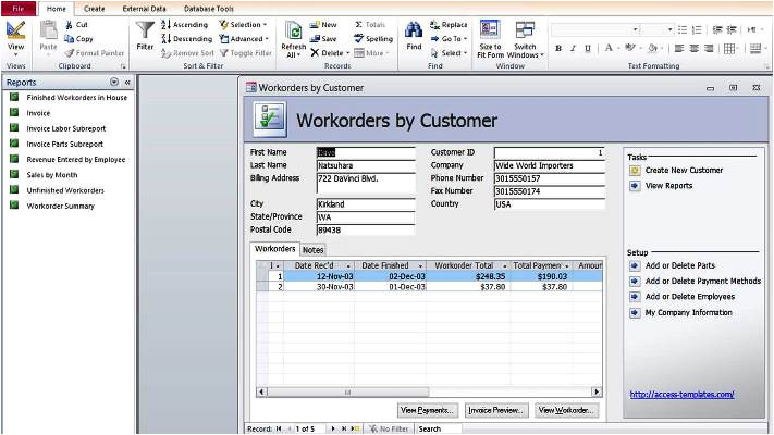 about microsoft access templates definition