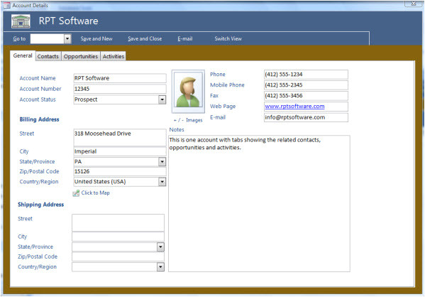 access database templates