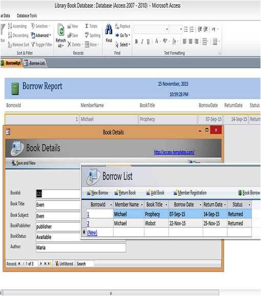 Ms Access HTML Template Microsoft Access 2010 Database Templates for Ms Access In