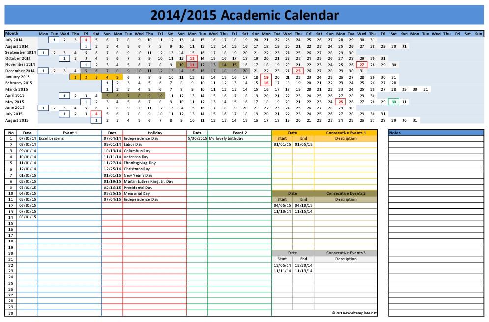 calendar template 2014 excel 2