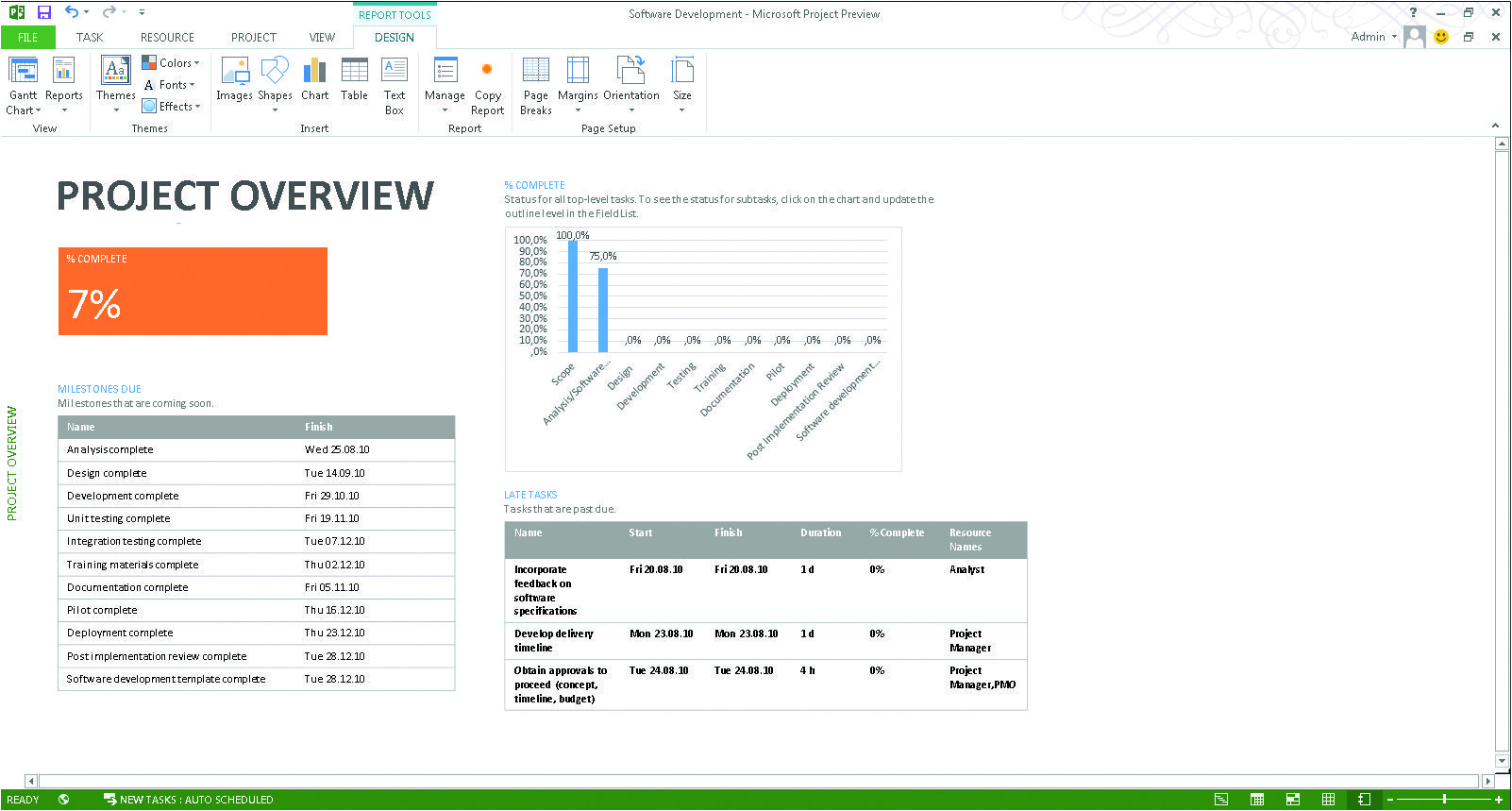Ms Project 2013 Report Templates Microsoft Project 2013 What New Business Application