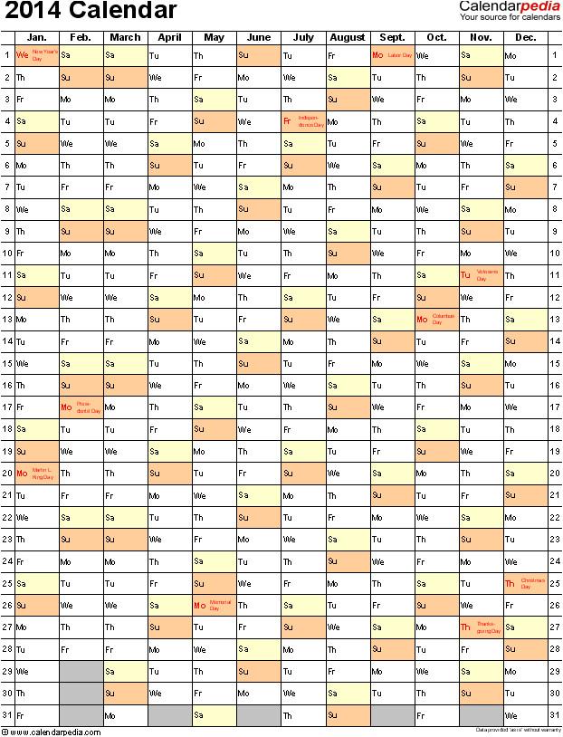 Ms Word 2014 Calendar Template 2014 Calendar Template Word Doliquid