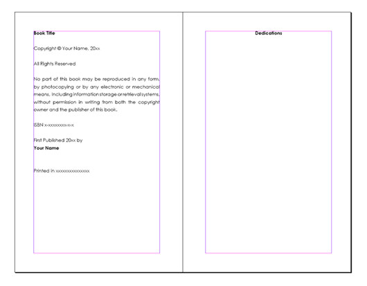 p book layout microsoft word free 291454