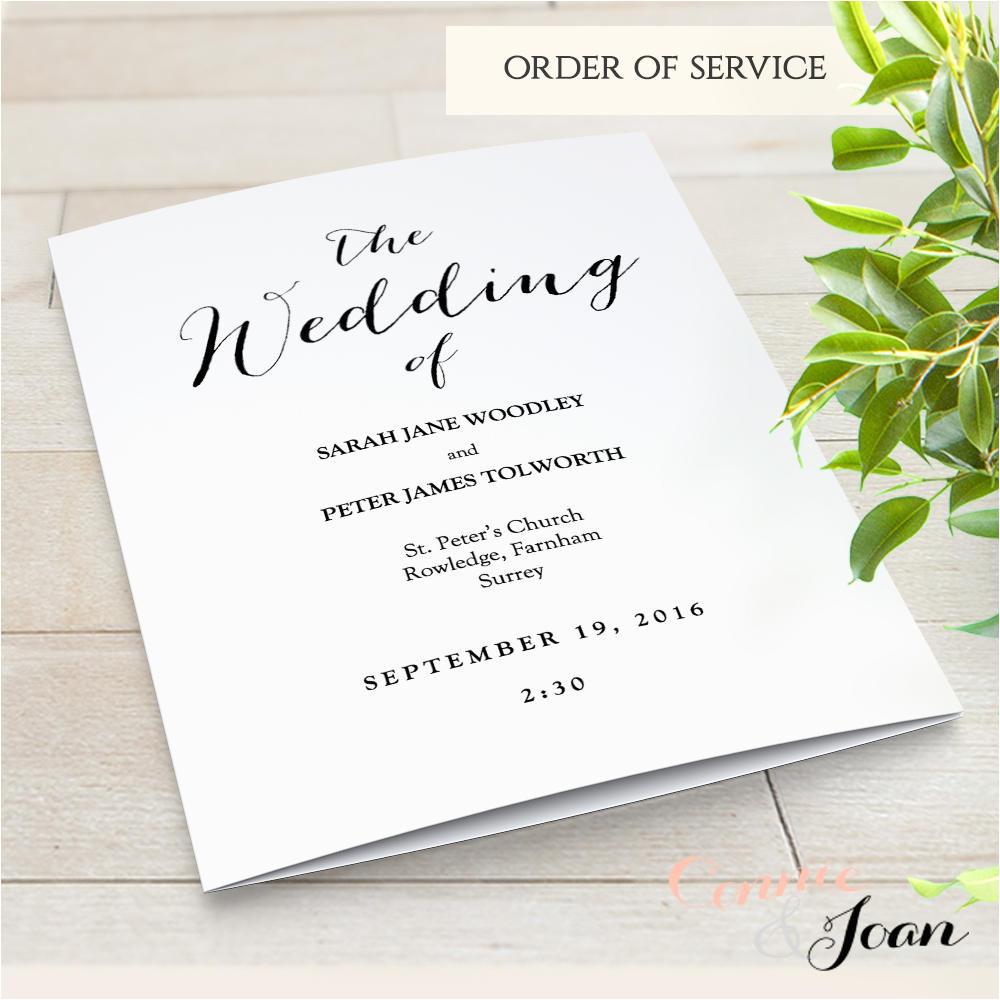 multi page wedding program template