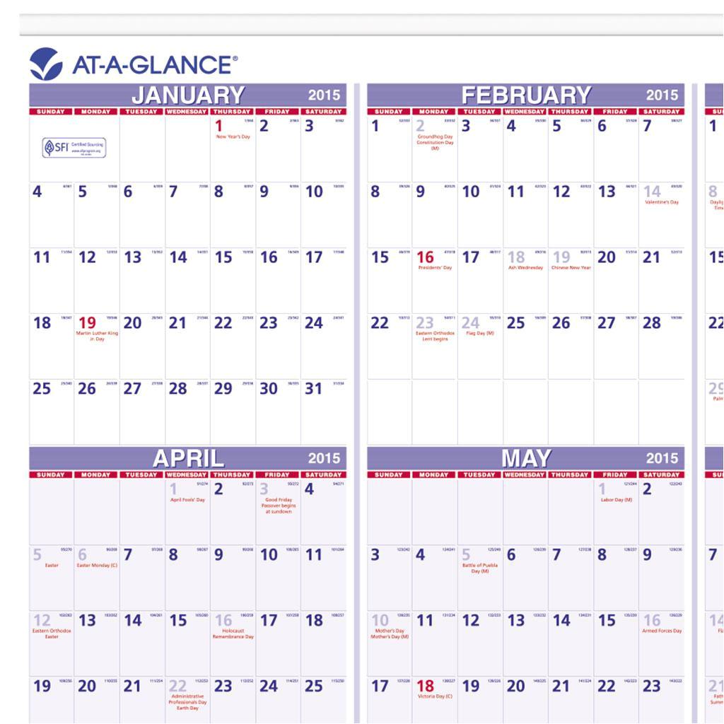 multi month 2016 calendar