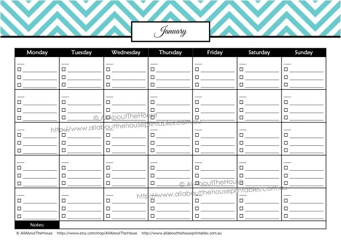 multi month calendar 2016