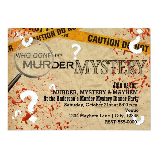 murder mystery dinner birthday party invitations 161748480656177590