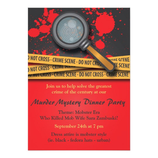 murder mystery dinner party invitation 161478103473327106