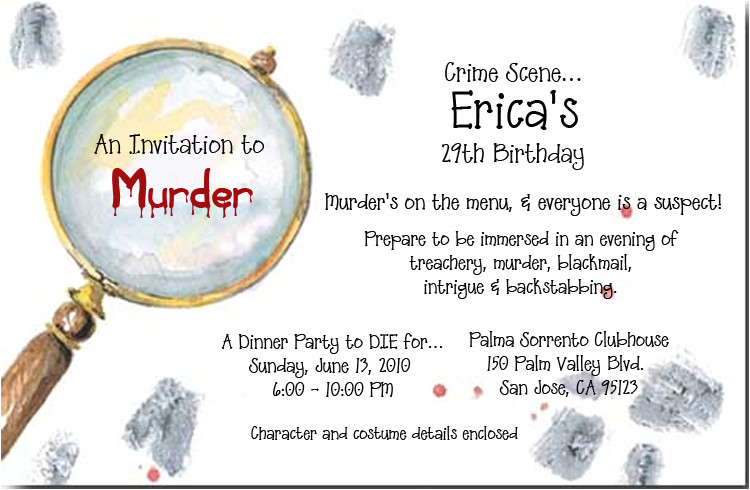 Murder Mystery Invitation Template Murder Mystery Party Invitations Cimvitation