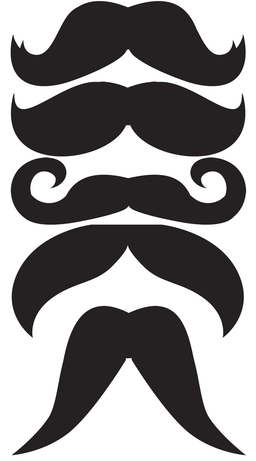 Mustach Template Oh Boy Mustaches Bow Ties Crafting Moo Moo