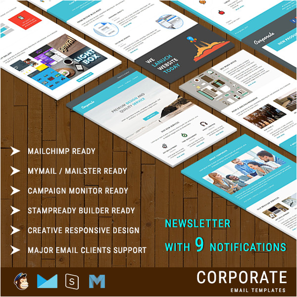 corporate responsive email newsletter templates