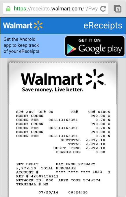 post walmart receipt template 98074