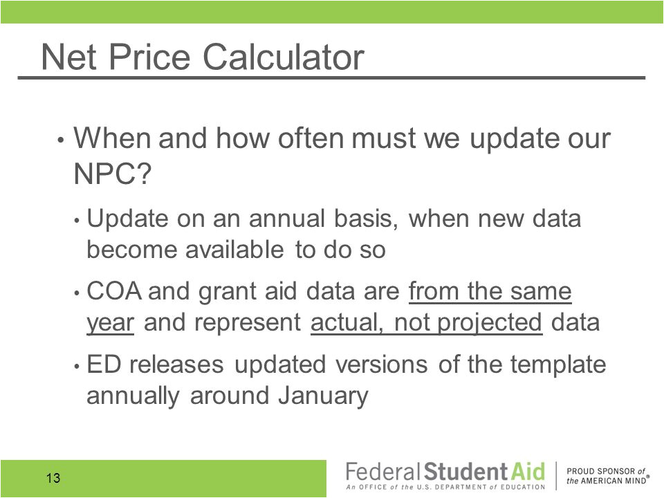 Net Price Calculator Template Consumer Disclosure Requirements and tools Ppt Video