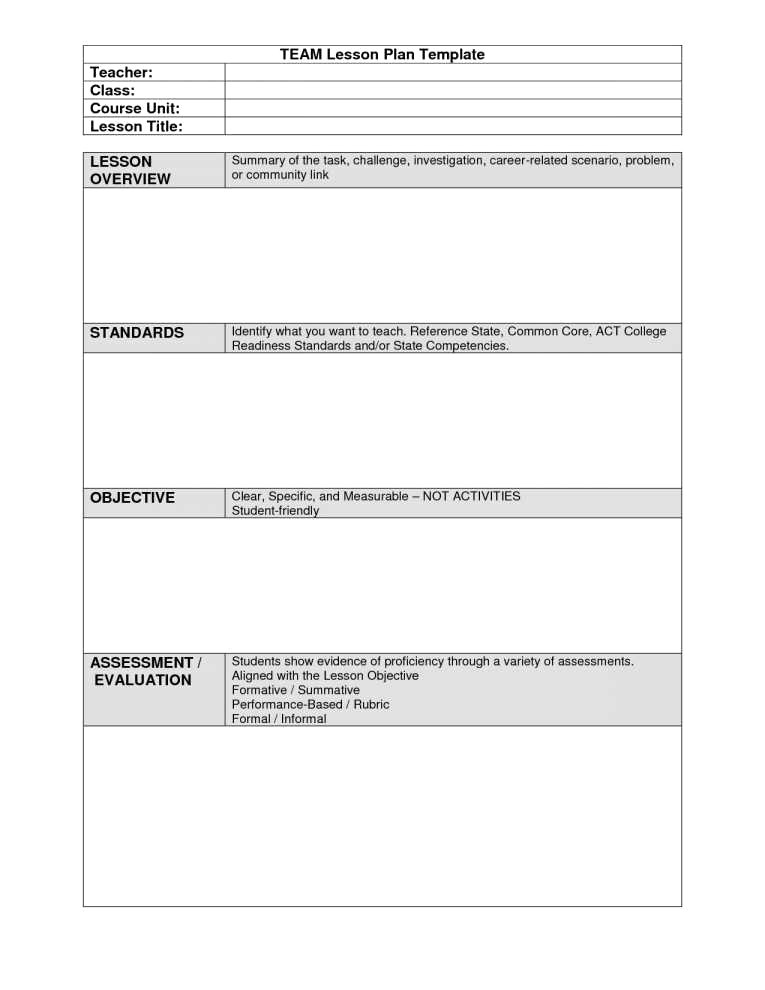 lesson plan template nyc