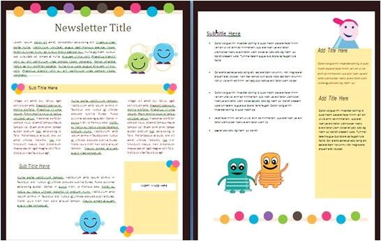 free newsletter templates for teachers school