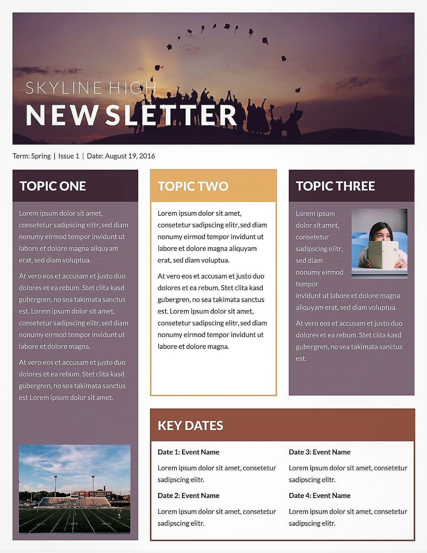 microsoft newsletter templates publisher free
